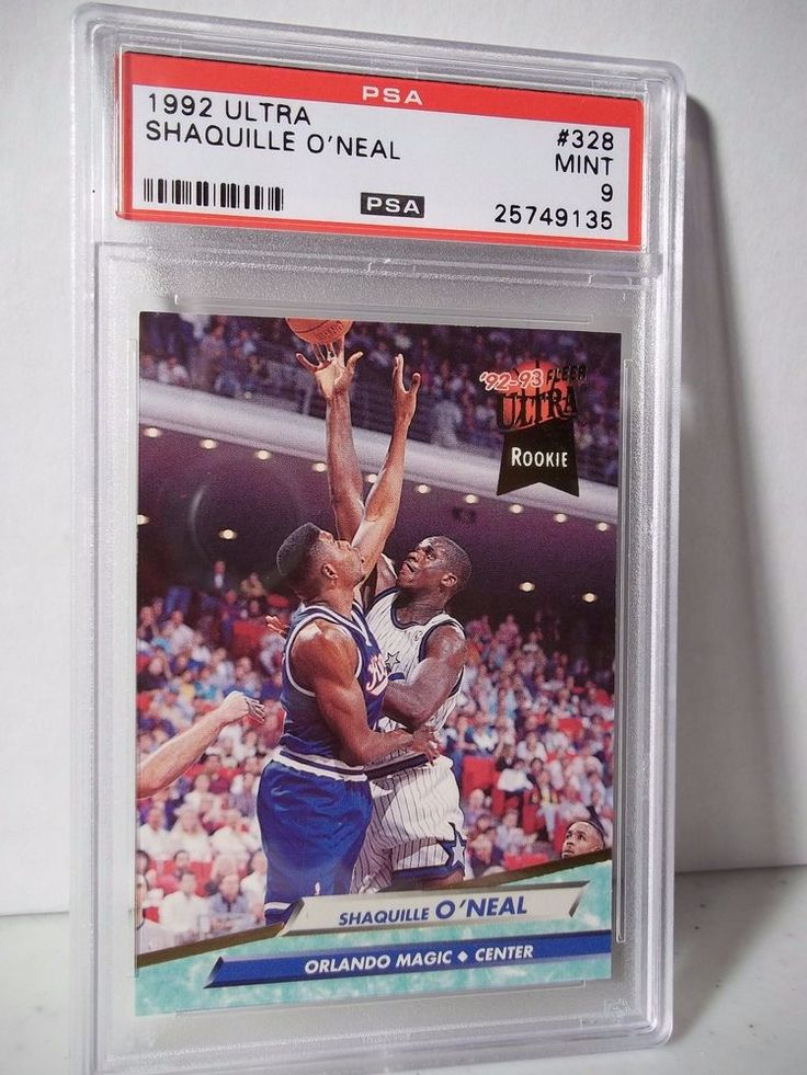 1992 fleer ultra shaquille oneal rc psa mint 9 basketball