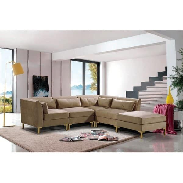 Chic Home Guison Modular Chaise Sectional Sofa With 6 Throw Pillows Modular Sectional Sofa Modular Sectional Sectional Sofa