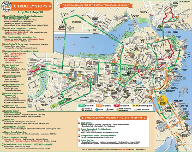 Trolleytours Com Boston Old Town Trolley Route Map Usa
