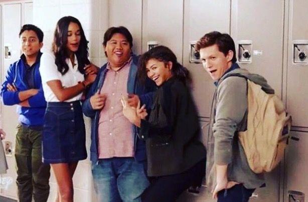 Tony Revolori | Laura Harrier | Jacob Batalon | Zendaya | Tom Holland | Spiderman | Spider-Man Homecoming | via Jacob's instagram, @LifeIsAloha |