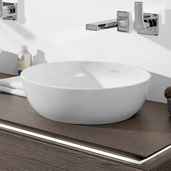 Villeroy Boch Artis Aufsatzwaschtisch Weiss Mit Ceramicplus Villeroy Boch Waschbecken Aufsatzwaschtisch Waschbecken Armaturen