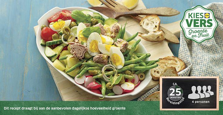 Recept voor Salade Niçoise #Lidl #Sperziebonen