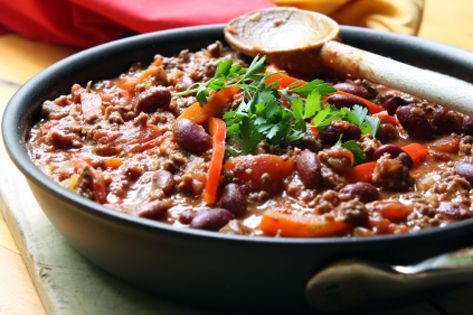 Turkey chili - hearty and filling, for less than 400 calories