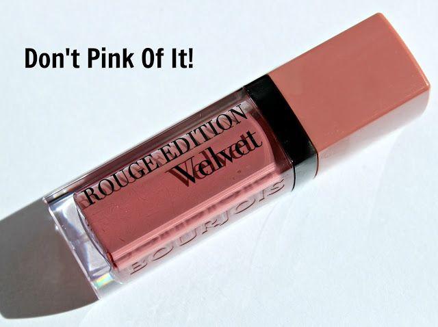 Bourjois Rouge Edition Velvet Don't Pink Of It!