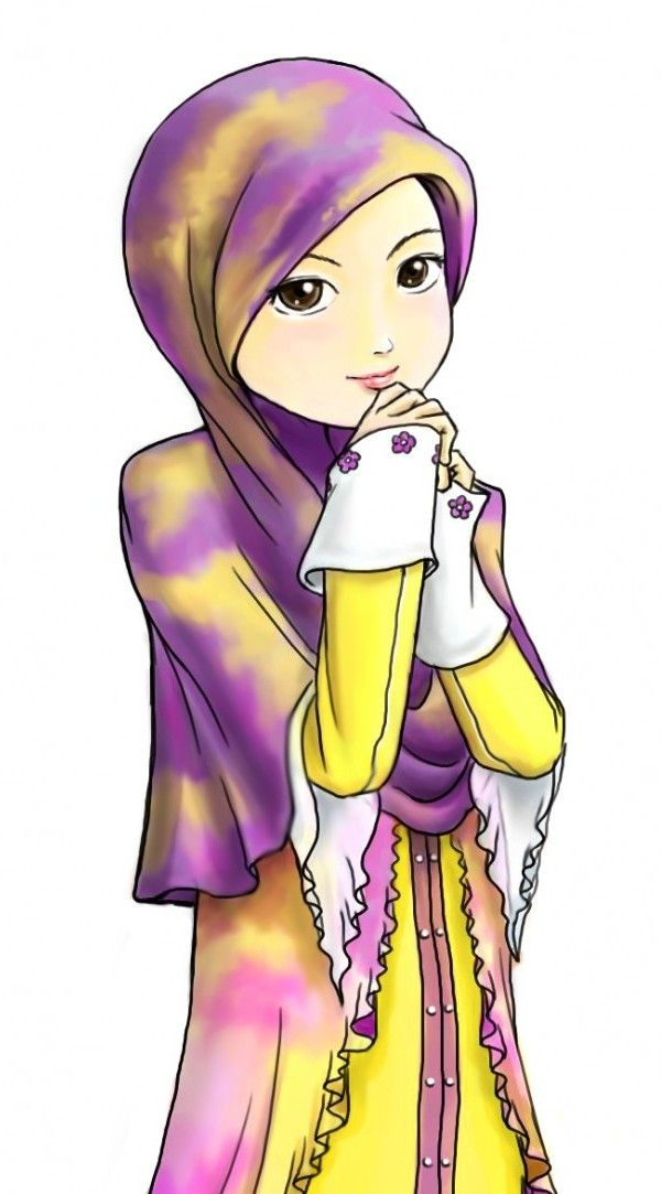 16 Wallpaper Gambar Kartun Wanita Muslimah Cantik Terbaru 2015 Yang Dipakai Anime