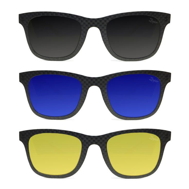 Carbon Fiber Sunglasses - Fibrous V2 - Ultimate Pack