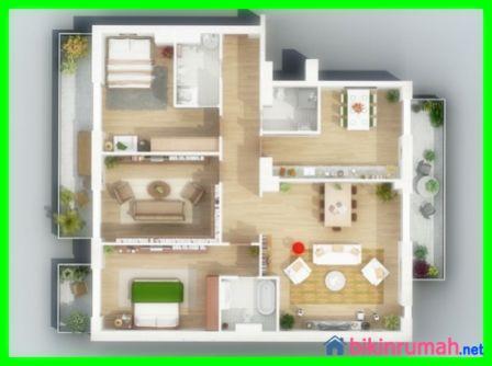 Desain rumah minimalis sederhana 1 lantai 3 kamar tidur for Decor kamar tidur