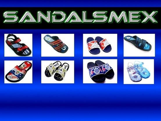Fabricante de sandalias de equipos de futbol soccer: Chivas, Pumas, Cruz Azul