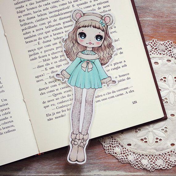Snow Bear Girl Bookmark (◕ᴥ◕) Kawaii Panda - Making Life Cuter