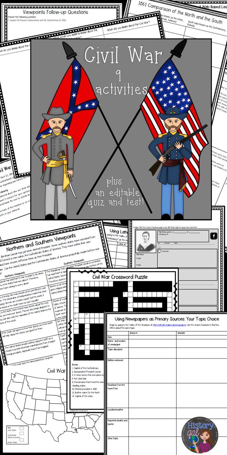 best 25 civil war activities ideas on pinterest revolutionary war battles civil war books. Black Bedroom Furniture Sets. Home Design Ideas