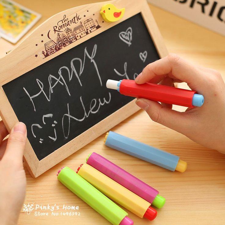 (3 unid Limpia Tiza Chalk Holder Holder + 1 unid) Titular Clip de Tiza Sin polvo de Limpieza de Enseñanza lápiz De Pizarra