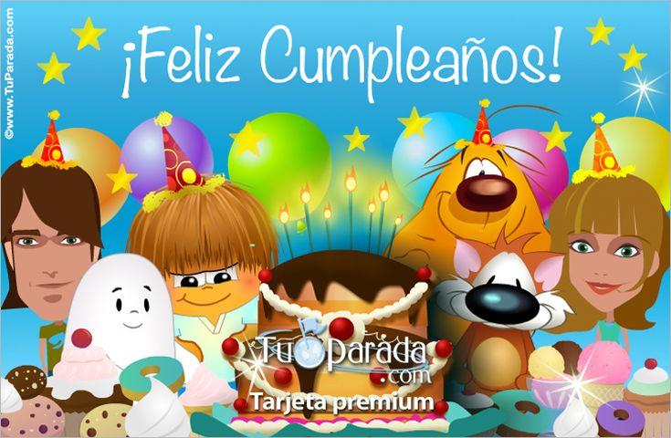 Tarjetas, postales gratis, tarjetas de feliz cumpleaños, significado de los nombres, frases, fiestas, felicidades.