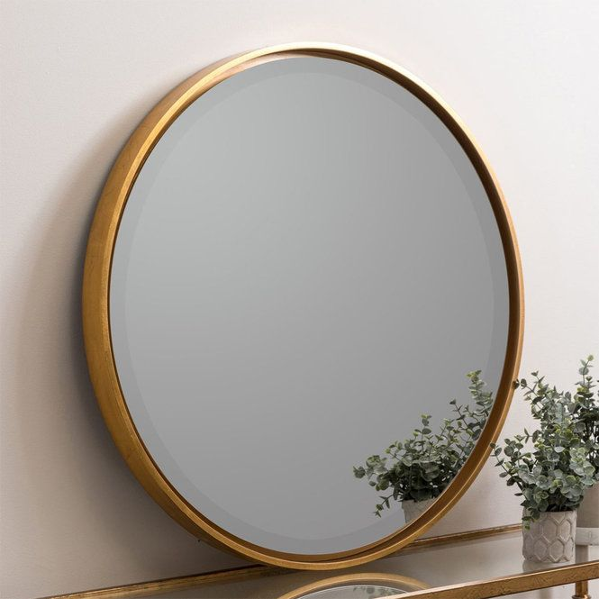 30 Round Frame Modern Floating Mirror Mirror Contemporary Mirror Frames On Wall