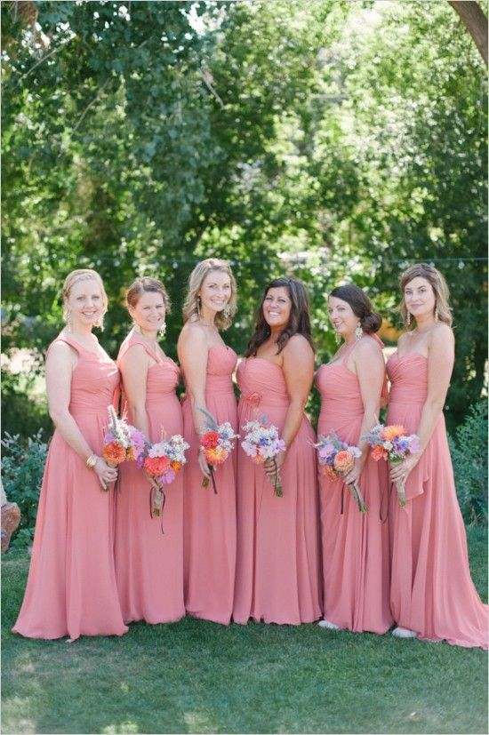 17 best images about 2014 popular coral wedding bridesmaid for Funky wedding guest dresses