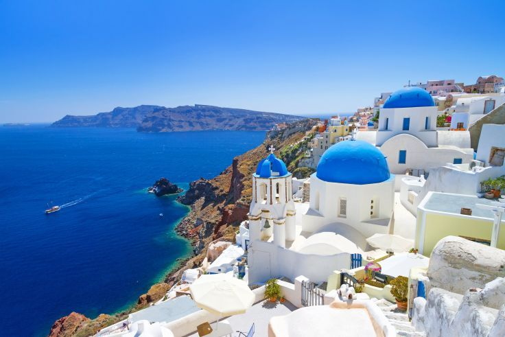 Greece resort sea vacation landscape nature wallpaper background