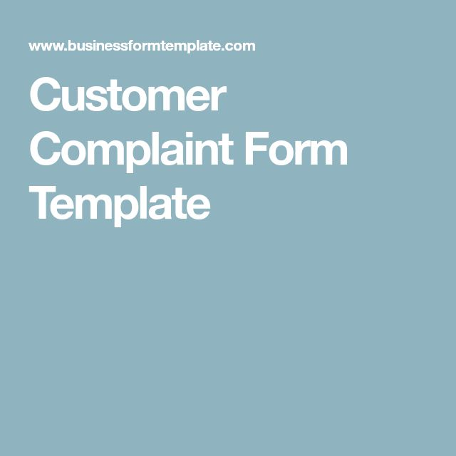 The 25+ best Customer complaints ideas on Pinterest Customer - customer complaints form template