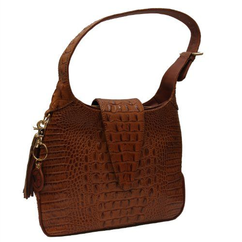Leather concealed carry handbag Exterior access, zippered concealed carry compartment accessible for right or left handed carriers Adjustable length shoulder strap
