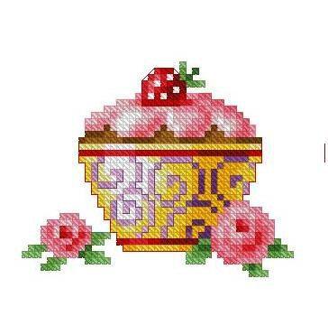 Cupcake  2  Cross stitch pattern pdf format by sunshinehomedecor, $6.00