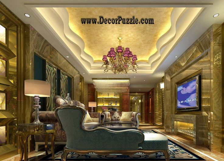 plaster of paris design for luxury living room 2015, pop ceiling designs