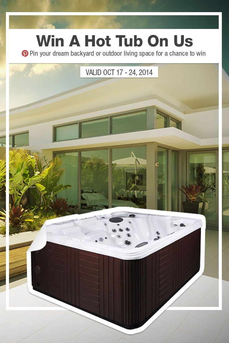 Pin your dream outdoor living space then visit  www.builddirect.com/hottub-giveaway for a chance to win a Kontiki Hot Tub ($5,000 value!).