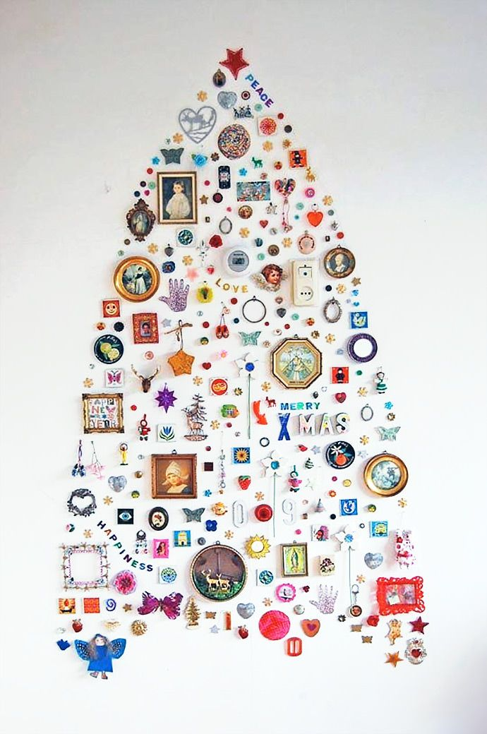 Wall Collection Christmas Tree via Apartment Therapy