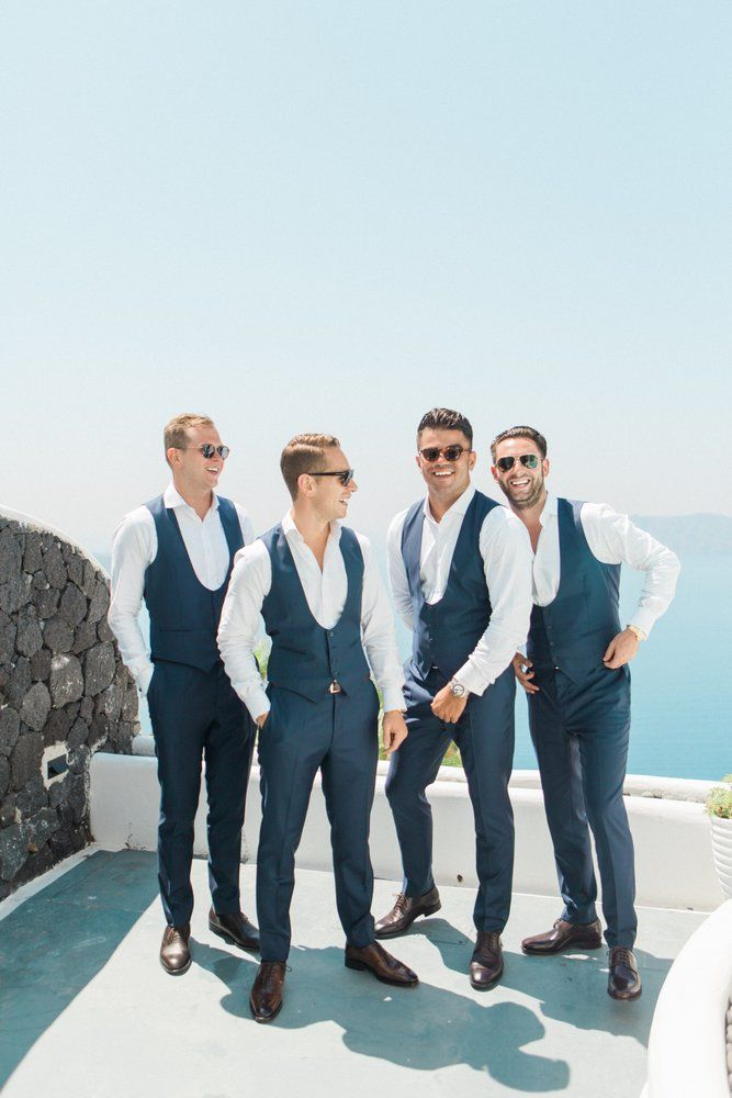 Alexandra and Oliver's elegant blush pink Santorini wedding by The Bridal Consultant