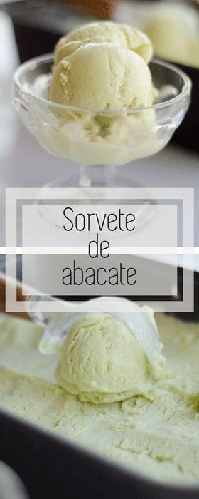 Receita de sorvete cremoso de abacate, com apenas 4 ingredientes e sem sorveteira!