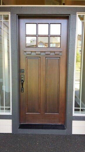 Craftsman Exterior Door Copper Creek Homes Vancouver WA