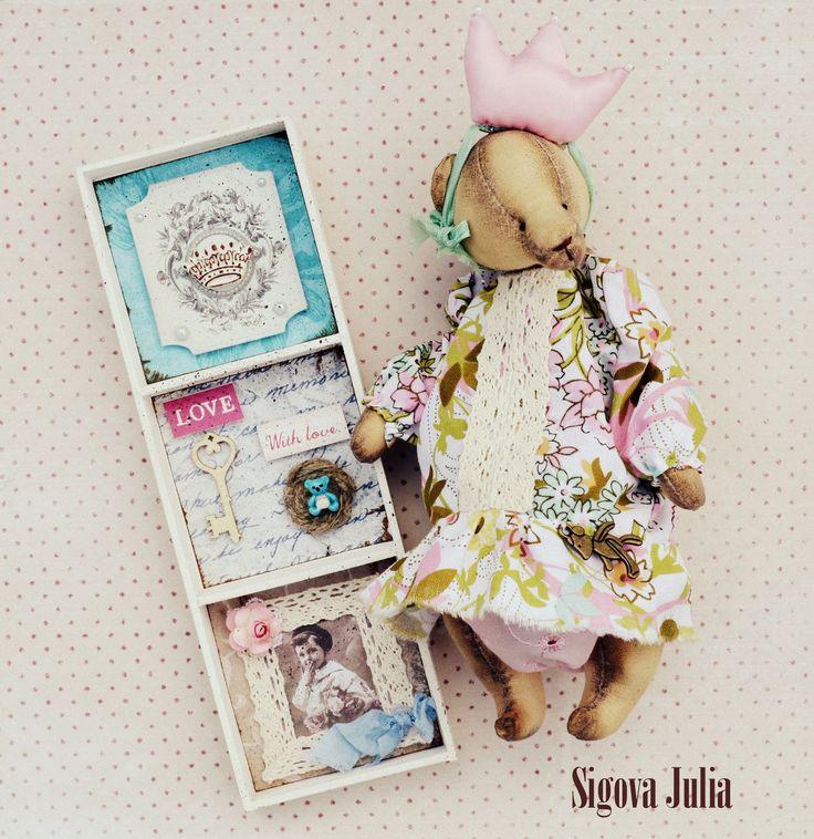 """Купить Мишка Принцесса """"Дневник памяти"""" - мятный, ароматизированная игрушка…"""