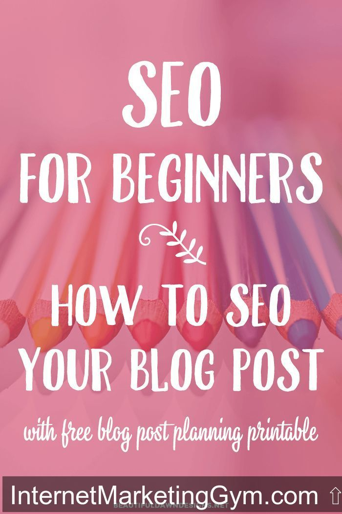 A detailed and easy to follow SEO for beginners tutorial. This tutorial shows you how to SEO your blog post for search engines. https://beautifuldawndesigns.net/seo-beginners-optimize-blog-post/