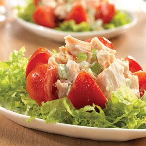Chicken Salad Stuffed Tomatoes. Perfect for a brunch or just anytime you want a great salad!!