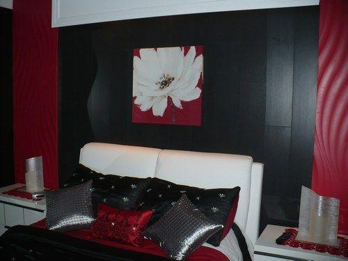 Chambre Deco Rouge Et Noir  Chambre a coucher deco ?