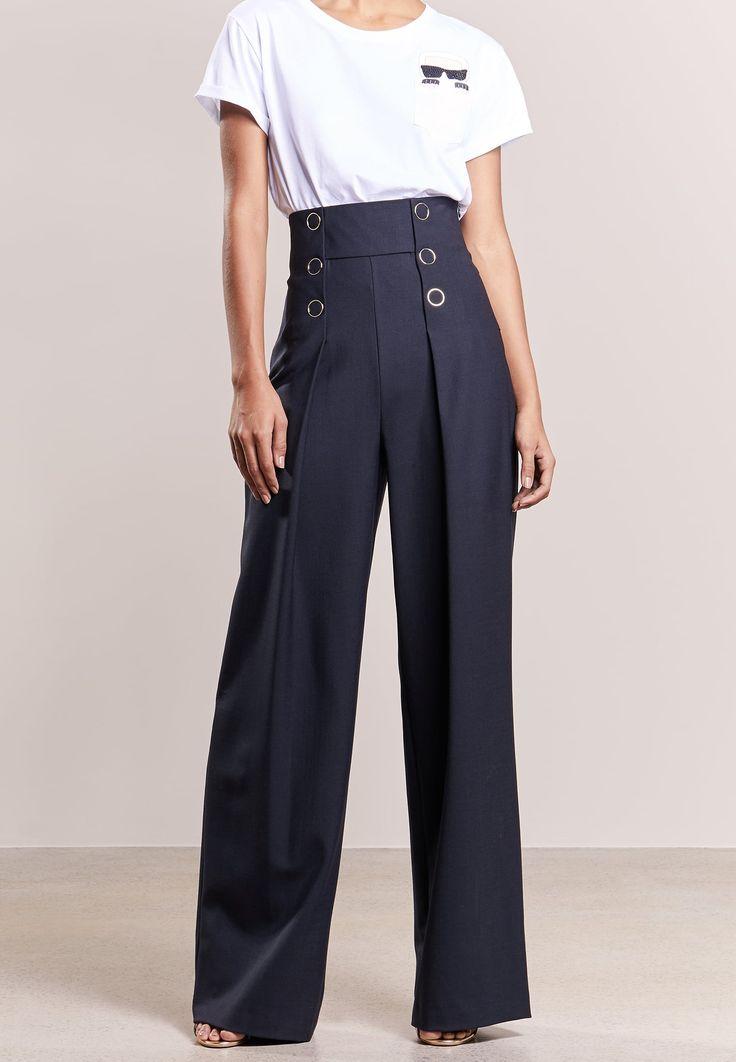 KARL LAGERFELD Pantalon classique - peacoat - ZALANDO.FR