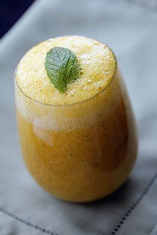 Sparkling Mango Mint Lemonade | Cocktails | Pinterest