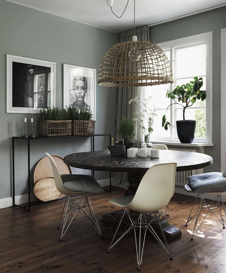 Very attainable yet stylish little dining area. I love all the pieces. And that light fixture, need it!