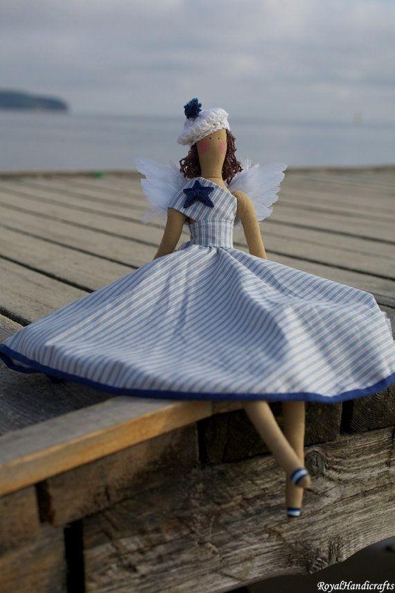 Novia Marina de Tilda Angel muñeca princesa Vintage artesanías marinero