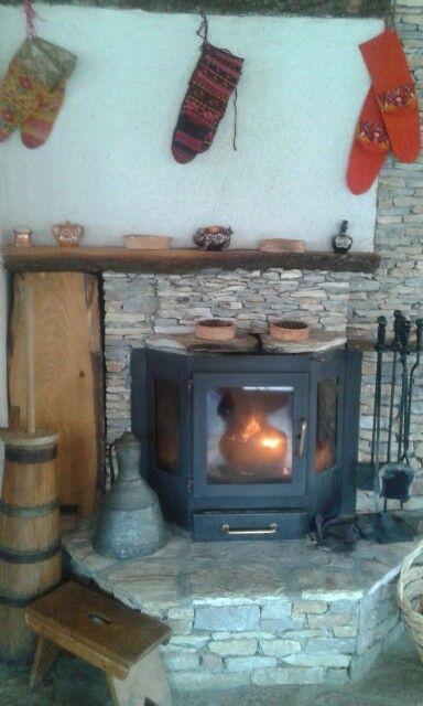 The fireplace in Mavrovski Merak. Perfect place to enjoy.