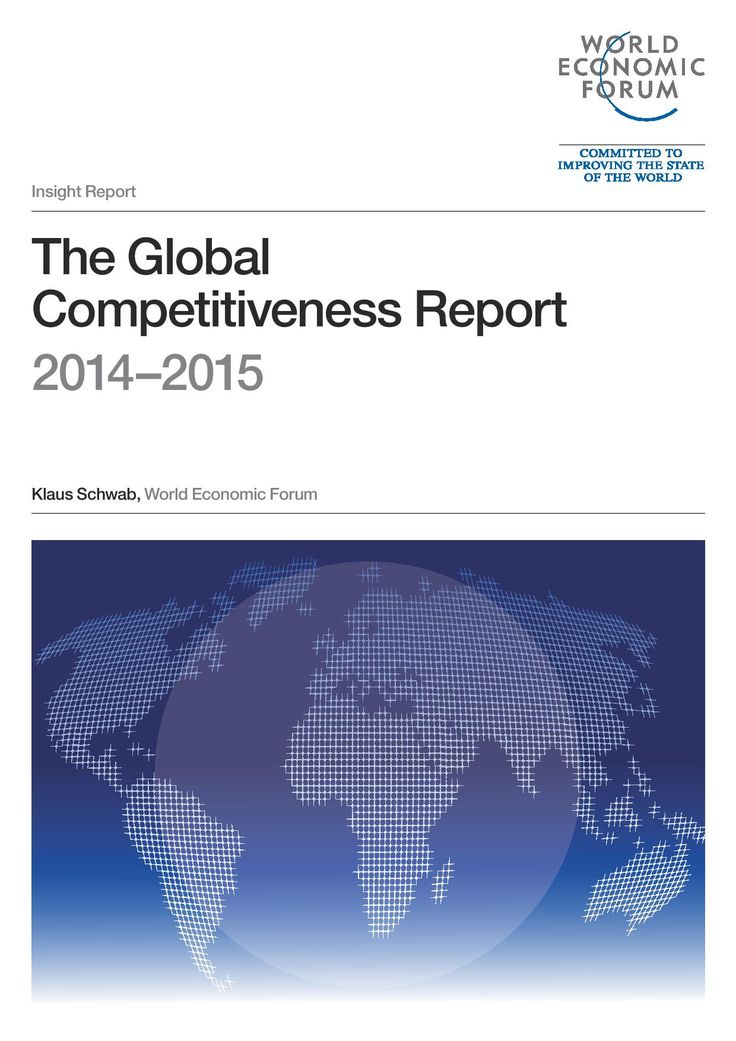 The Global Competitiveness Report 2014 - 2015 assesses the competitiveness landscape of 144 economies, providing insight into the drivers of their productivity and prosperity. The Report series remains the most comprehensive assessment of national competitiveness worldwide. #wef