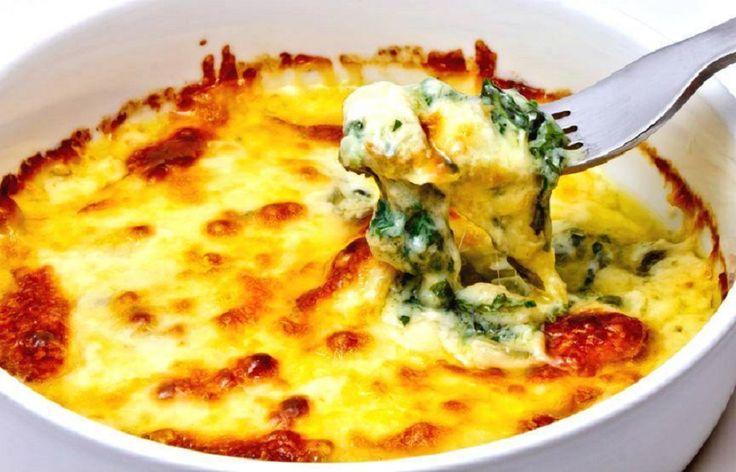 A spenótos,  sajtos quiche