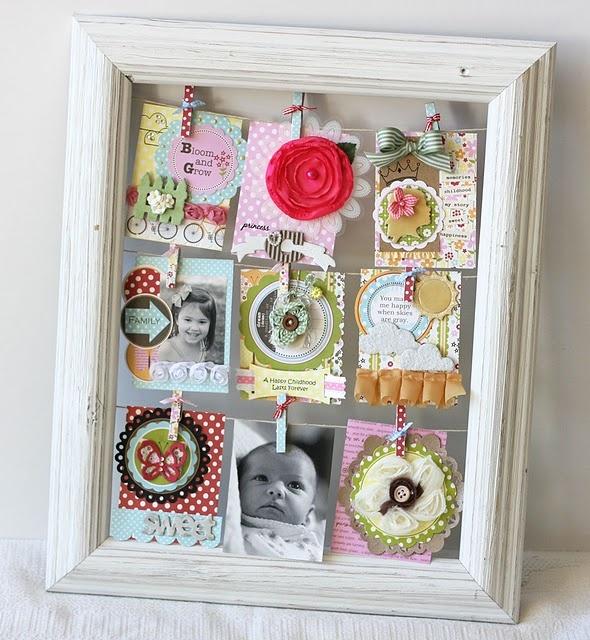 Mini scrapbook frame