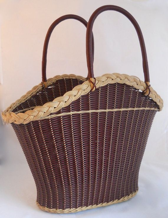Vintage 1950s/60s Shaped Basket Handbag by theaireyhouse on Etsy