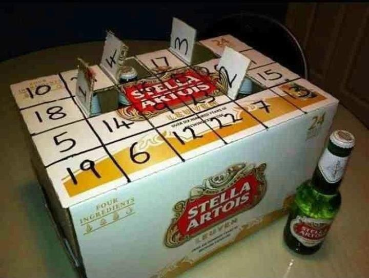 Not quite crafty but clever all the same. The perfect advent calendar for the beer drinker in your life. For something more traditional, try this paper bag advent calendar project on Craftbits: http://www.craftbits.com/project/advent-calender-paper-bag
