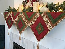 Holiday Lights Mantle Scarf free quilting pattern on Simplicity Creative Group at http://www.simplicity.com/t-free-quilt-patterns-Holiday-Lights-Mantle-Scarf.aspx