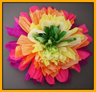 MommyWiki: Ανοιξιάτικα λουλούδια από γκοφρέ χαρτί