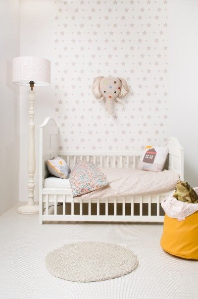 white and neutral sophisticated nursery