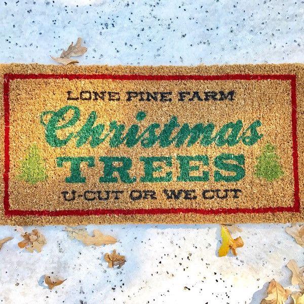 Christmas Trees Door Mat