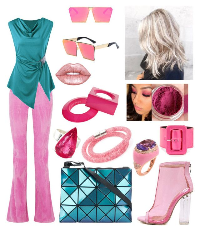 """Barbie Style"" by hellenrose7292 on Polyvore featuring Gucci, WithChic, Gemjunky, Casato, Swarovski, Maison Margiela, Bao Bao by Issey Miyake and Lime Crime"