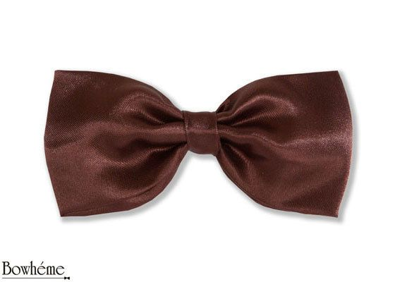 Pre Tied Bow Tie Brown  ELEGANZA MARRONE #bowtie #bow #tie #groom #mens #womens #fashion . by Bowheme on Etsy, $12.00