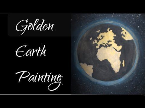 Golden Earth - Acrylic Painting Time Lapse