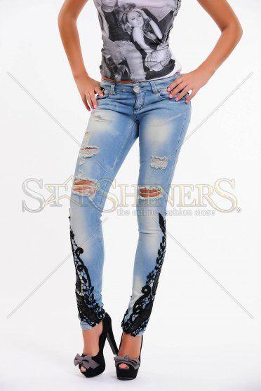 Jeans Mexton Romantic Lace Blue